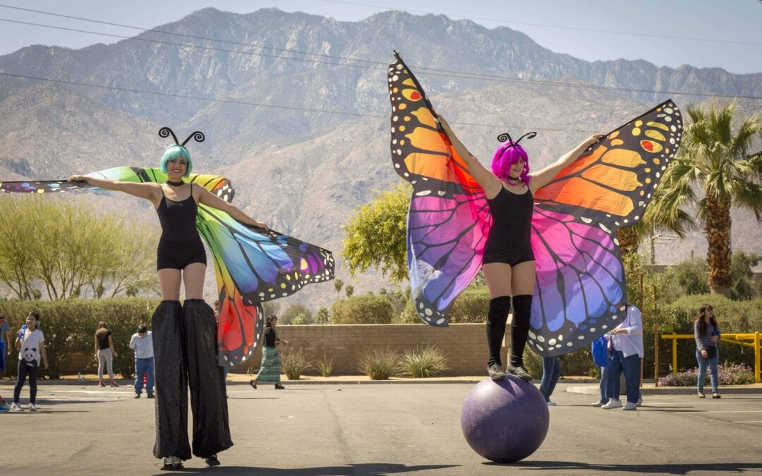 Butterfly-ladies-at-party-