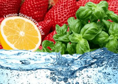 Lemon-strawberry-basil